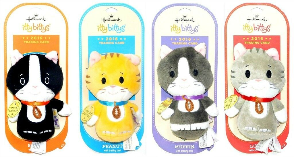 2016 Hallmark Kitten Bowl Limited Edition Itty Bitty Bittys Set of 4 with Cards