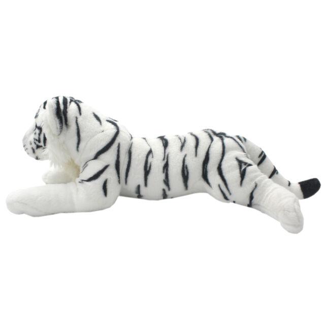 Tagln Lifelike Stuffed Animals Toys White Tiger Plush Pillows For