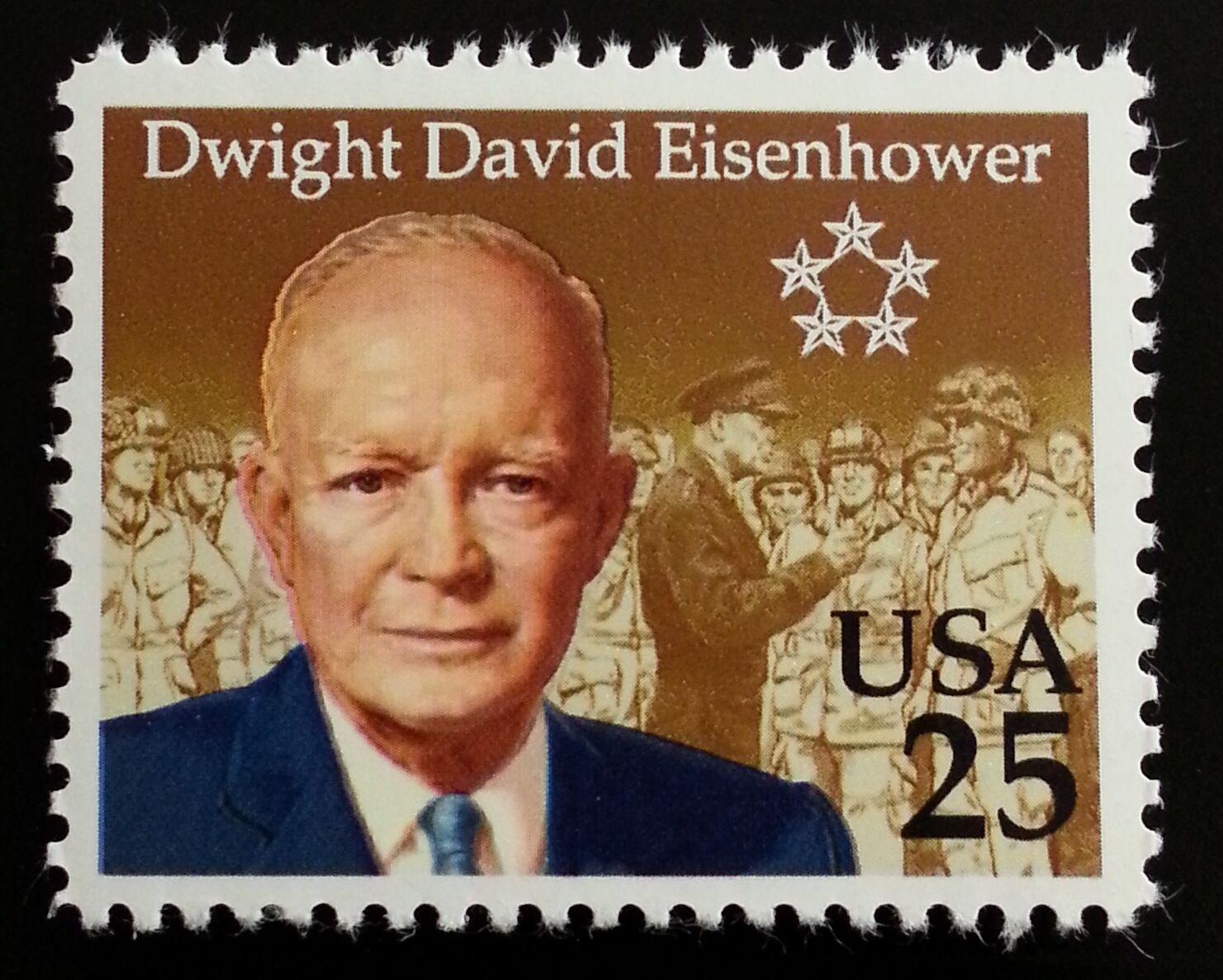 1990 25c Dwight David Eisenhower, Birth Scott 2513 Mint