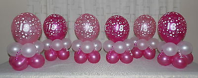 50th Birthday Balloon Decoration Display kit for 6 tables