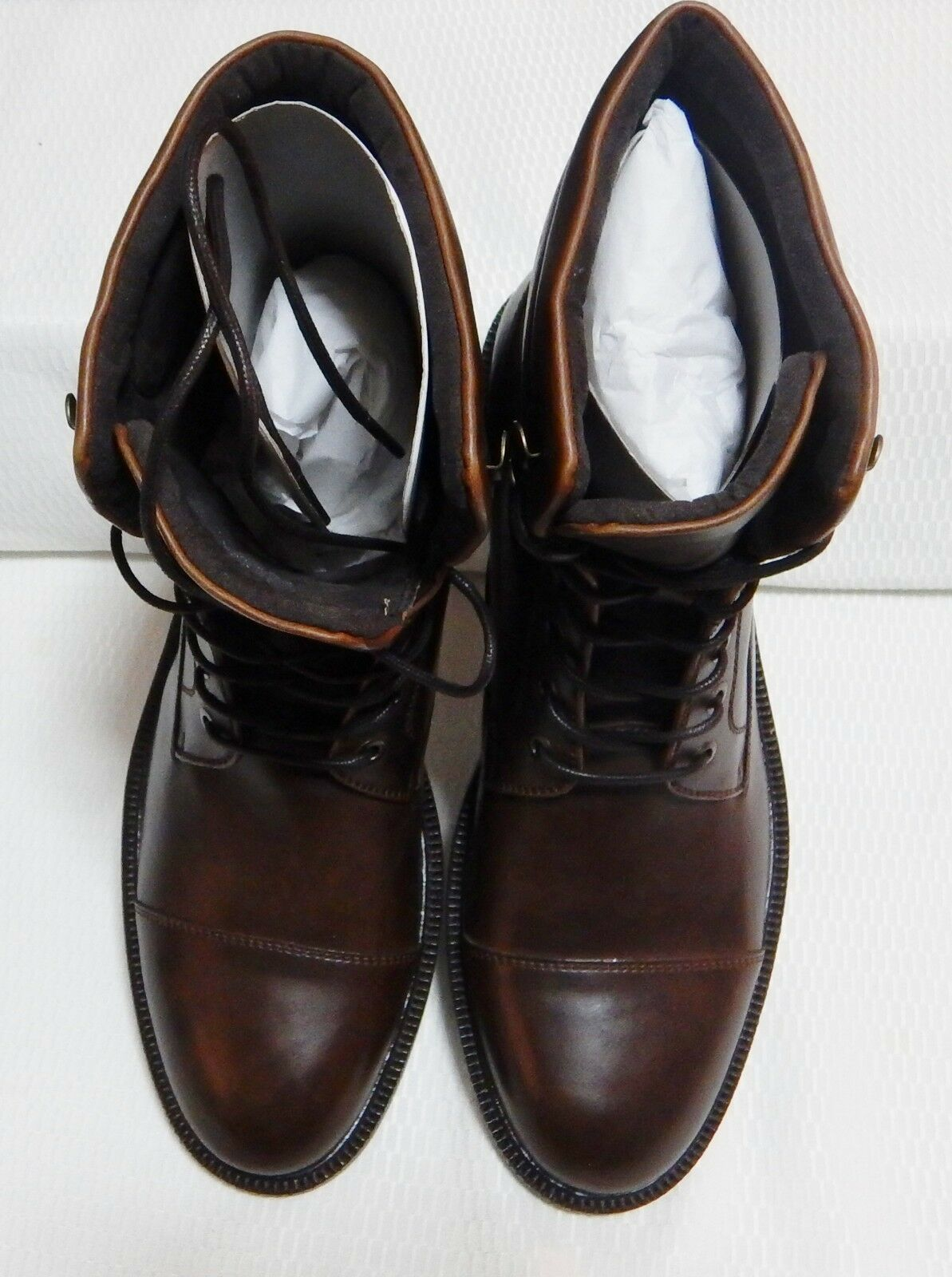 KENNETH COLE LET'S ROLL CAP TOE BOOT( BOX BROWN ) NEW WITH BOX BOOT(  SIZE 8.5 M  #1776-1 fc2627