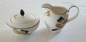 Royal-Doulton-Everyday-1994-Sugar-Dish-And-Milk-Creamer-serving-jug-fine-china