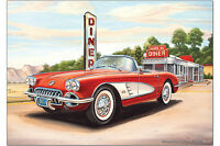 Kühlschrankmagnet Nostalgie Auto Retro G. Huber Diner Caprio