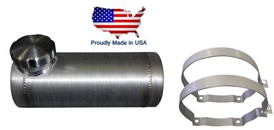 1//4 NPT OFFSET Outlet Bung 3//4 Gallon 4x15 End Fill Spun Aluminum Gas Tank