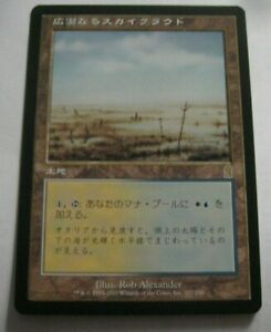 1x Japanese Skycloud Expanse, LP, Odyssey, EDH Commander Nonbasic Land Filter