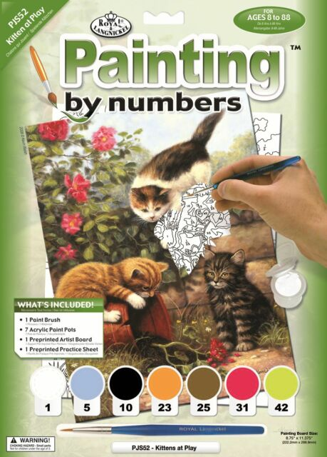 Kittens at Play Royal Brush PJS52 Painting by Numbers Junior Small Art Activity Kit