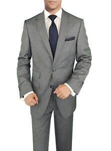 Signature-Italian-Wool-Silk-Mens-Suit-Gray