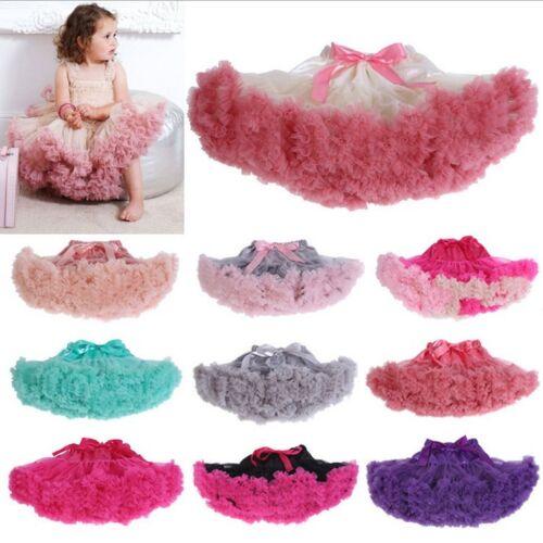UK Cute Baby Girl Kid Chiffon Fluffy Tutu Dance Party Christmas Pettiskirt 0-10Y