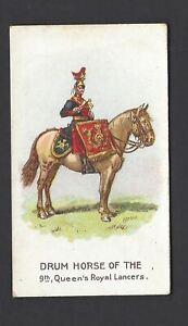 WILLS-SCISSORS-DRUM-HORSES-HORIZONTAL-9TH-QUEEN-039-S-ROYAL-LANCERS