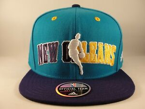 half off fb3f5 82e39 Image is loading New-Orleans-Hornets-NBA-Adidas-Snapback-Hat-Cap