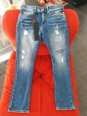 Cordiale Replay Jeans Bimbo Taglia 10 Anni H 142 Cm. Nuovi