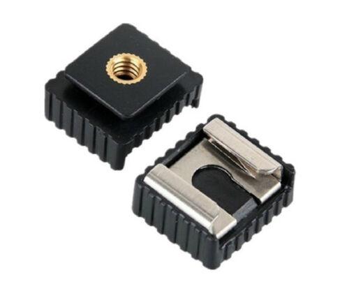 """Flash Scarpa Adattatore standard ISO flash a 1//4 /""""POLLICI FILETTO Fotocamera Flash"""