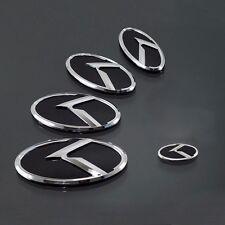 K Logo 3D Emblem Set 3pc Front+Rear+Steering Wheel (Fits: KIA 2010-2017 SOUL)