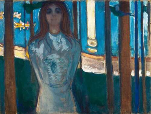 PAINTING EDVARD MUNCH THE VOICE SUMMER NIGHT  LARGE WALL ART PRINT POSTER LF2444