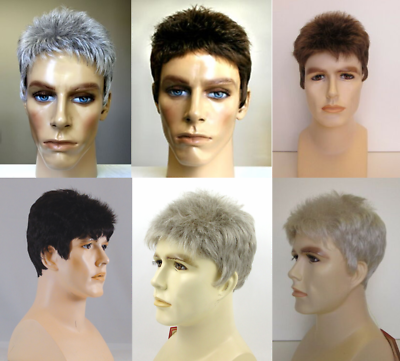 Mens Male Straight Spiky Short Hair Wig W Tapered Back Danny Handsome Dude Ebay