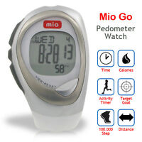 Mio Go Pedometer Watch W/ Steps +distance +calories 7-day Memory - Arctic