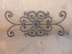 grille fer forg avec rosaces pour fen tres ou portails fer forg ferronnerie ebay. Black Bedroom Furniture Sets. Home Design Ideas