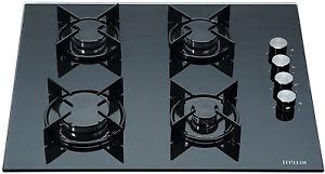MILLAR-GH6040XEB-ET-4-Burner-Built-in-Gas-on-Glass-Hob-60cm-Enamelled-Trivets