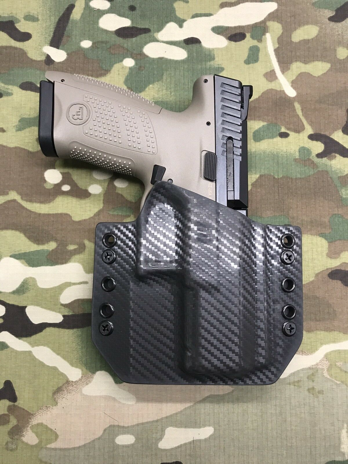 Armor grau Carbon Fiber Kydex for CZ P-10c Holster