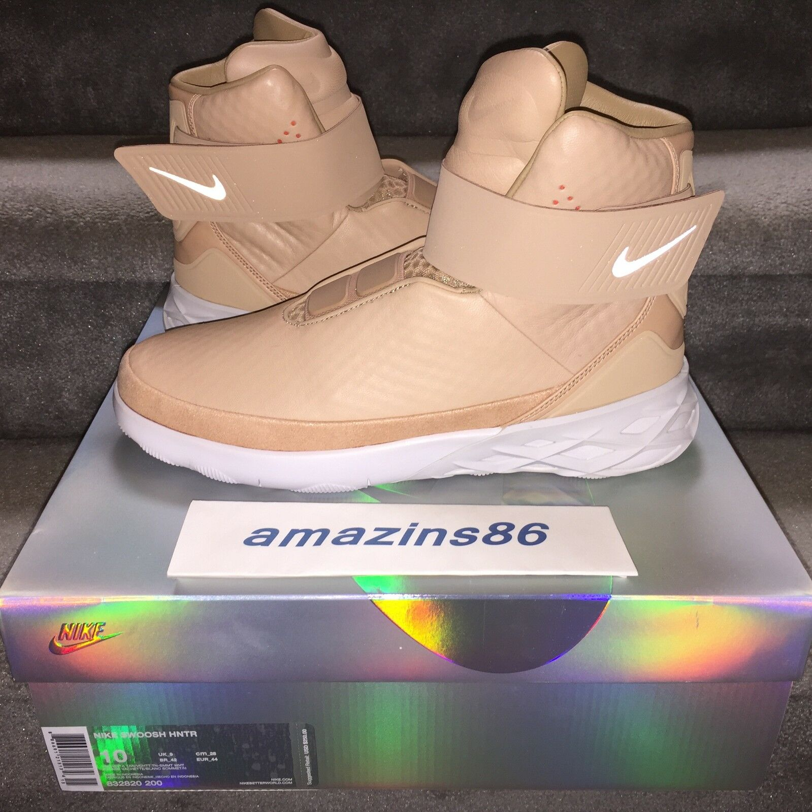 Nike di pennellate hntr hunter vachetta tan tan vachetta taglia 10 ds scorte morte nuovo di zecca dc8533