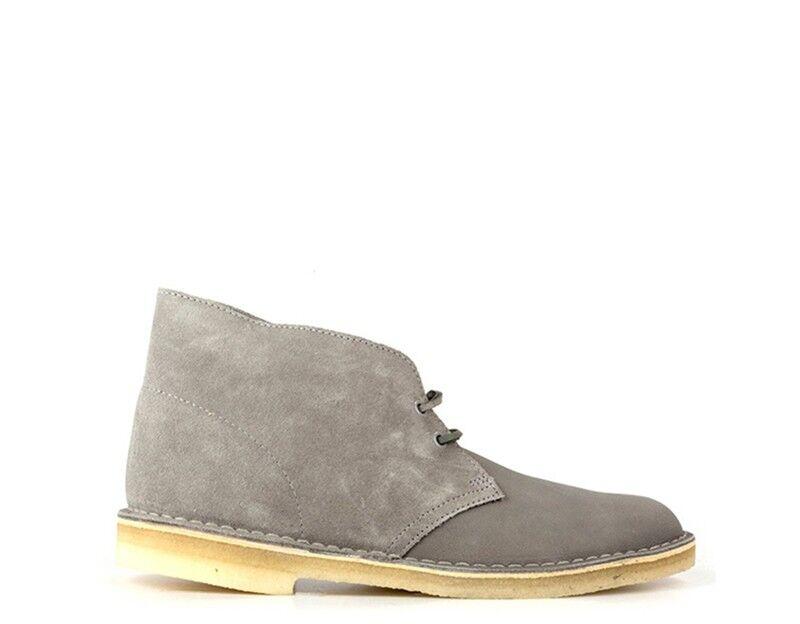 Schuhe CLARKS CLARKS CLARKS Mann grau Naturleder DESERT Stiefel-STORM 460410