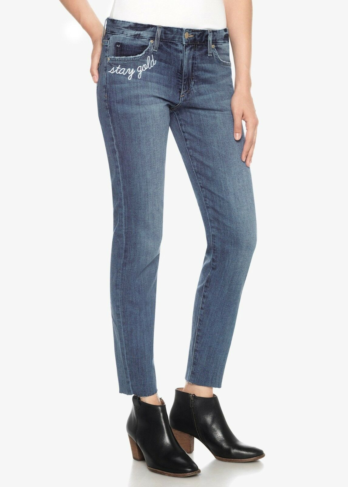 Joe's Jeans The Smith Mid-Rise Straight Crop Denim Pant Clenna 25 26 28 29 30 31