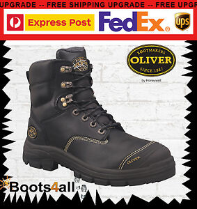 41f31947a7a Details about New Oliver Work Boots Steel Toe 55345 Black Lace-Up Safety
