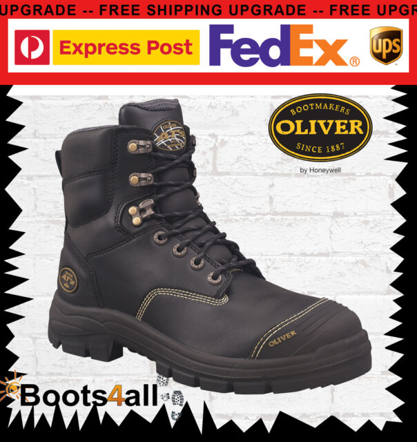 New Oliver Work Boots Steel Toe 55345 Black Lace-Up Safety