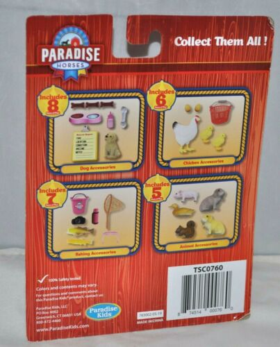 Details about  /Paradise Adventure Playset 5 Animal Accessories Pig Duck Squirrel 2 Rabbits NEW