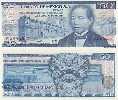 Frank Mexico To Win A High Admiration 50 Pesos Juarez 18 De Dic,1973 El Banco De Mexico Unc