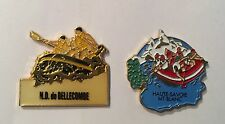Lot de 2 PIN'S PIN SPORT RAFTING CANYONING HAUTE SAVOIE MONT BLANC ND BELLECOMBE