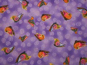 Laurel-Burch-Embracing-Horses-Birds-Coordinate-Y1536-27M-Purple-w-Metallic-BTY