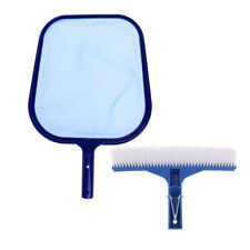 """Swimming Pool Spa Leaf Skimmer Net and 10/"""" Bristle Brush Cleaning Tool Blue"""