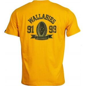 BNWT-Australia-Wallabies-Rugby-T-Shirt-Gold-Tee-Size-Large