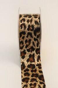 Leopard Zebra Animal Print Arts Craft Bow Satin Grosgrain