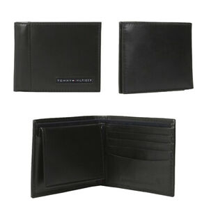 Tommy-Hilfiger-Men-039-s-31TL22X063-Genuine-Leather-Passcase-Billfold-Wallet-Black