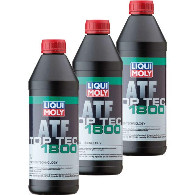 9x Liqui Moly 1l Top Tec ATF 1800 Automatic Transmission Oil Dexron VI Ford