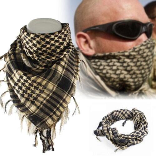 Lightweight Military Arab Tactical Desert Army Shemagh KeffIyeh Scarf Fashion QB