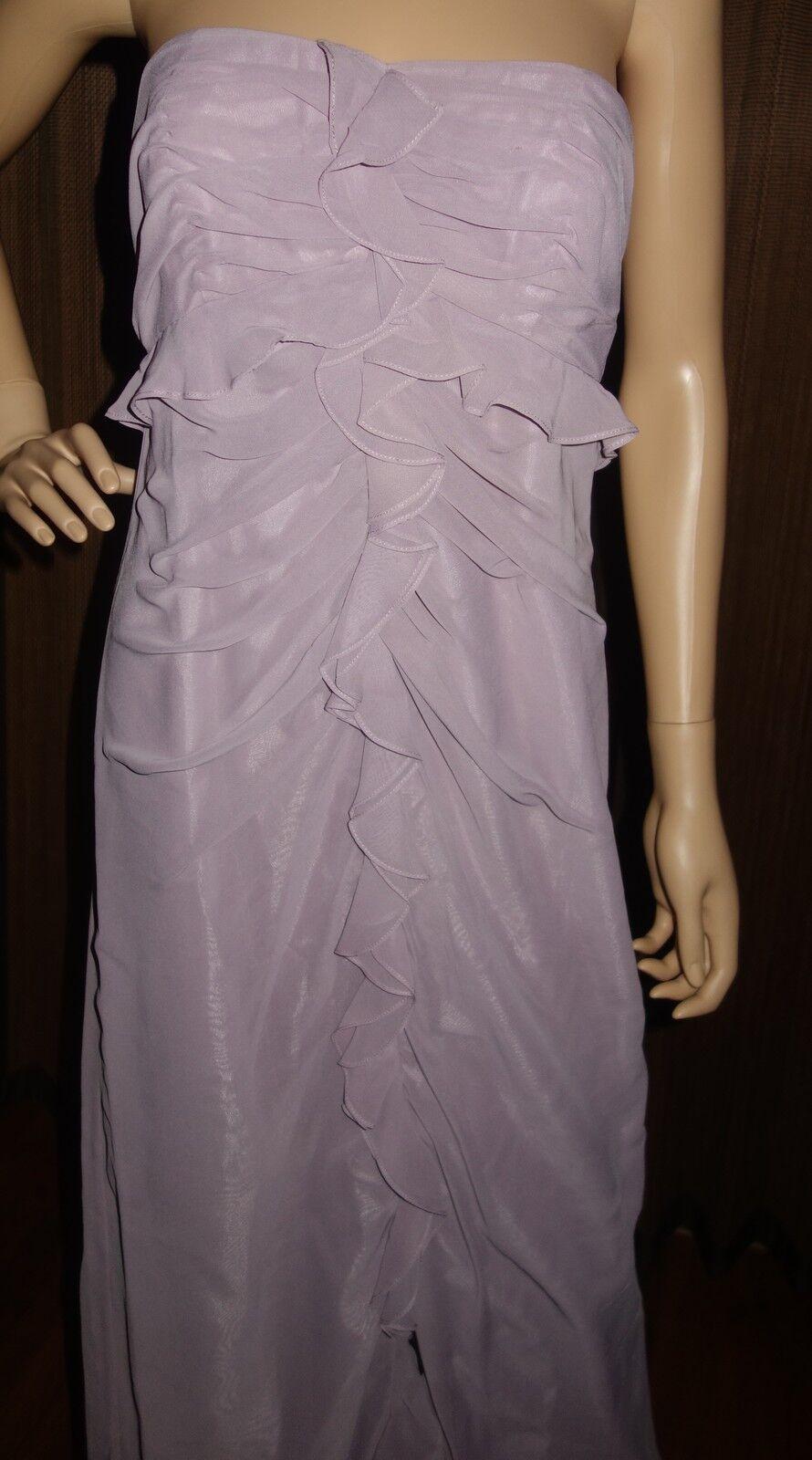 Jill Stuart Strapless Ruched-Front Evening Dress Größe 8 new