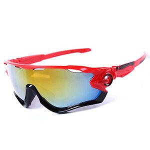 682474440574 Sunglasses Red Black Road Bike Cycling Aero Helmet Sun Glasses Time ...