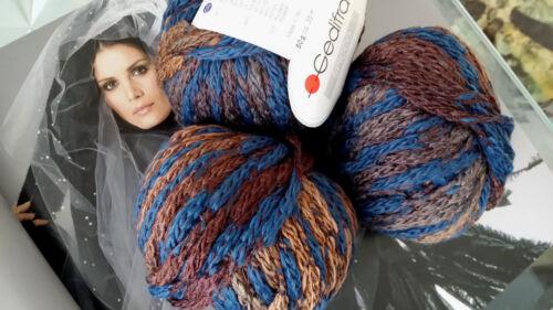 500 g SPICCO Gedifra Schachenmayr WOLLE Camel Braun Blau Jeans Jacke Pulli Loop