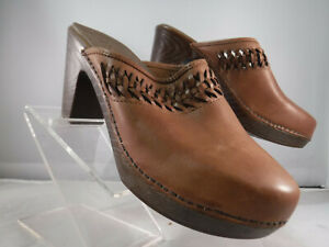 pfr white mountain woven brown leather handy platform