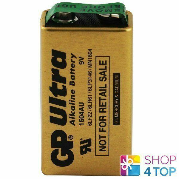GP Ultra Alkaline Battery Industrial 9V 6LR61 E Block MN1604 6LF22 EXP 2025 NEW