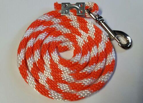 Nylon Poly MINI CHEVAL PONEY Chèvre Mouton Chien Longe Corde USA Made Orange Candy Can