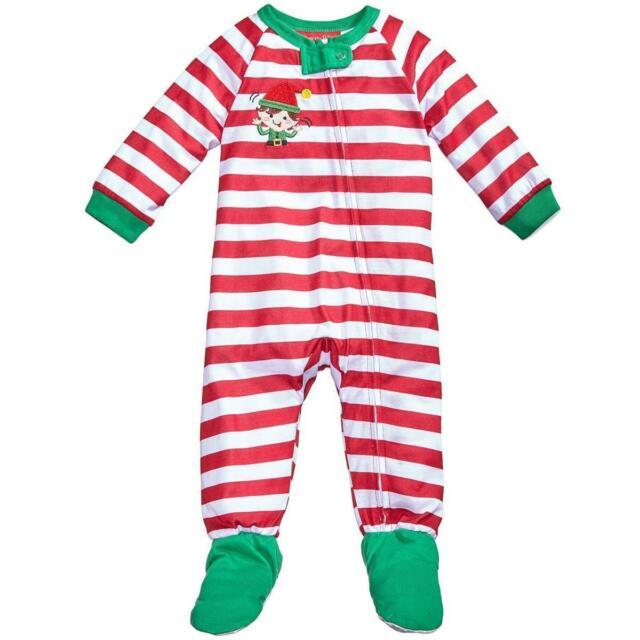 e2e4520c63 Family PJs Elfing Around Red Holiday Toddler Footed Pajamas 2t 3t ...