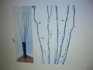 Lloytron-0-9-M-Luces-de-sucursal-marron-con-50-Bombilla-de-arroz-amp-efecto-nieve-Azul