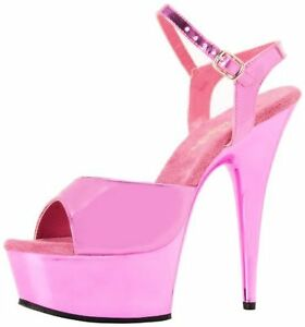 Pleaser-Womens-Delight-609-FSM-M-Platform-Sandal-Pick-SZ-Color
