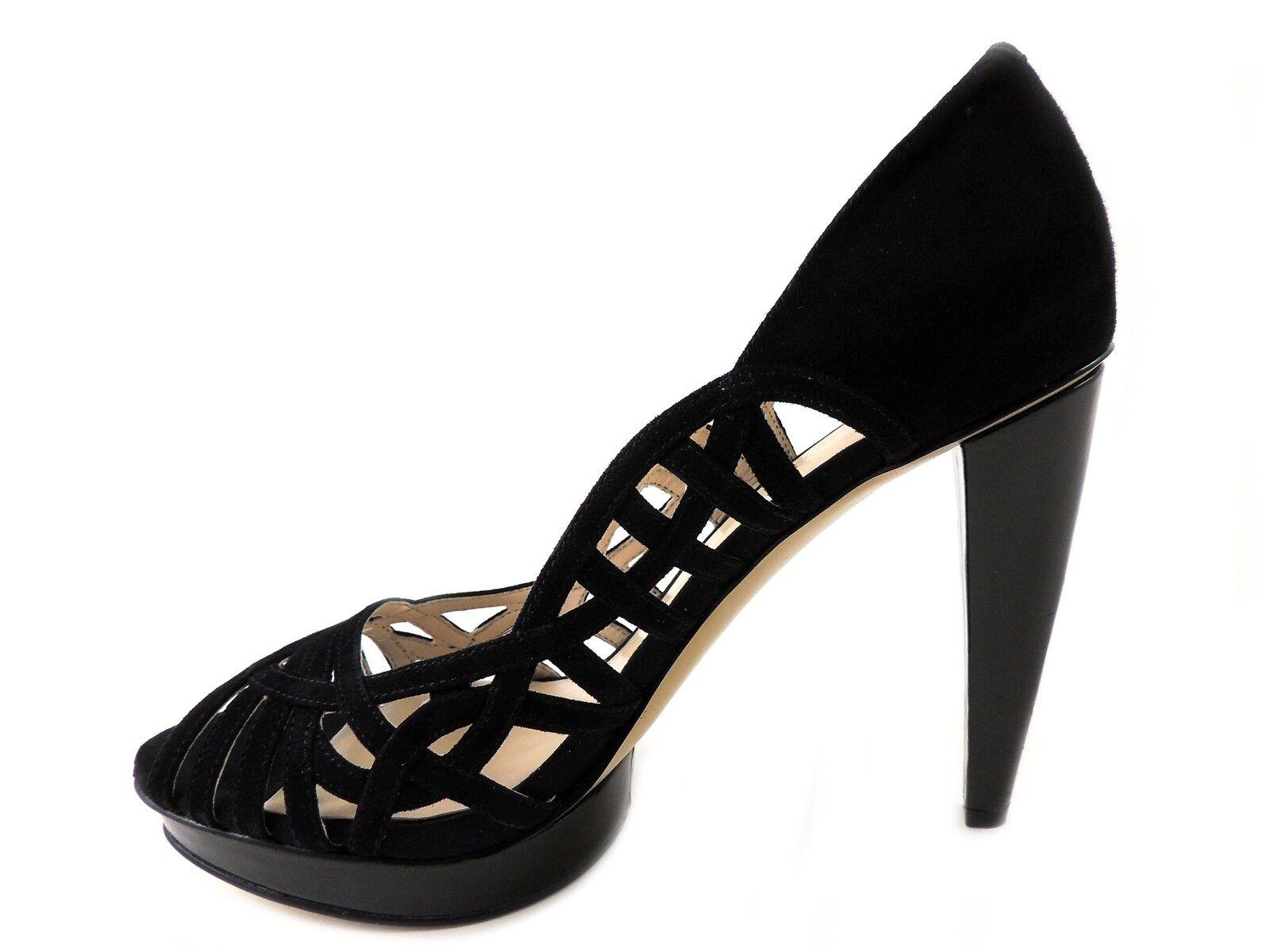 Nine West Women's Speedup Platform Pumps Black Suede Size 9.5 9.5 9.5 M b6b439