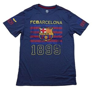 842935892 Image is loading Fc-Barcelona-Fan-T-Shirt-Official-Licensed-Navy-