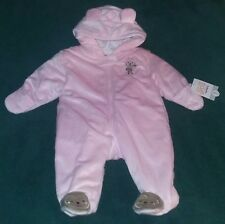 1b1508dbe48d Just One You Made by Carter s Girl Pink Polar Bear Hooded Snowsuit ...